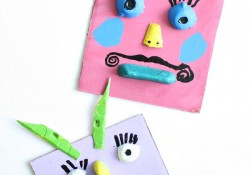 Silly Monster Craft Collage Art