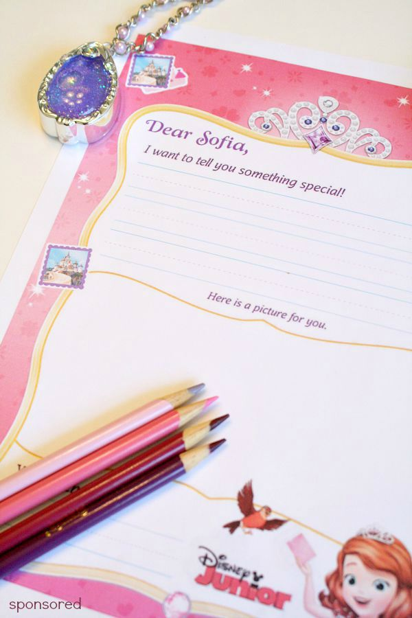 Write a letter to Sofia the First and she'll send one back to your child!