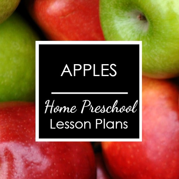 Apples Home Preschool Activities