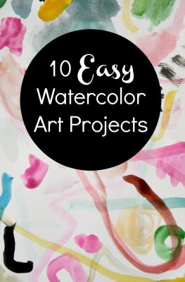 10 Easy Art Projects Using Only Watercolors, Markers, and Paper