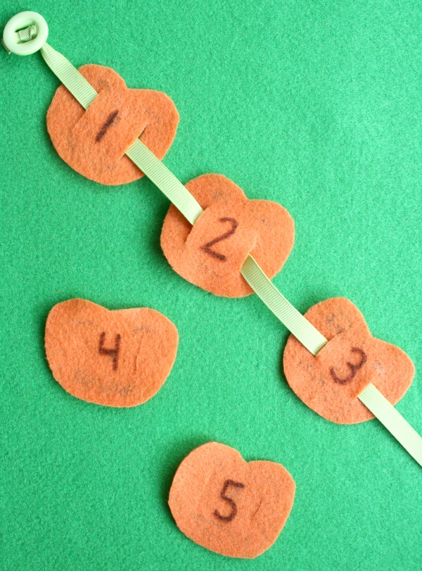 5 Little Pumpkin Counting Activity for Halloween