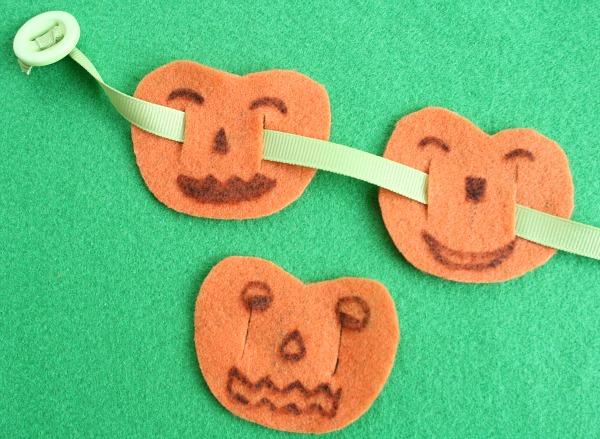 5 Little Pumpkins Fine Motor Activity for Preschoolers
