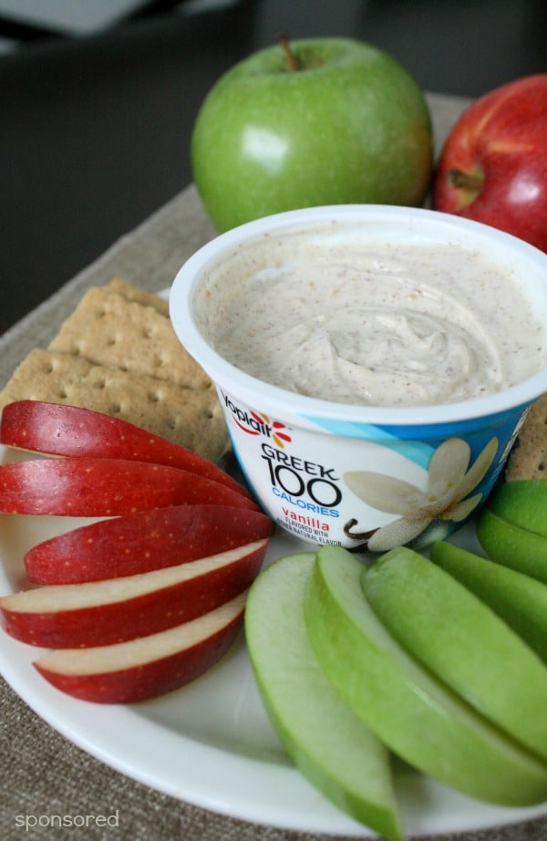 Easy Apple Pie Greek Yogurt Dip Recipe