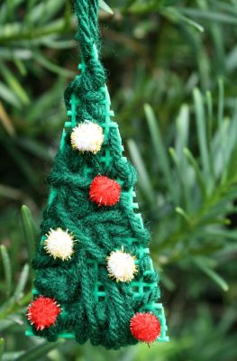Kid-Made Christmas Tree Ornament