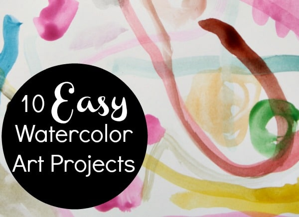 Art projects using only watercolors and a marker for Easy watercolour projects