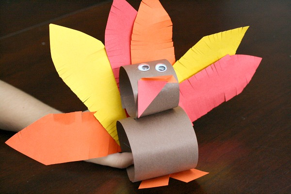 Fine Motor Feather Turkey Craft for Thanksgiving