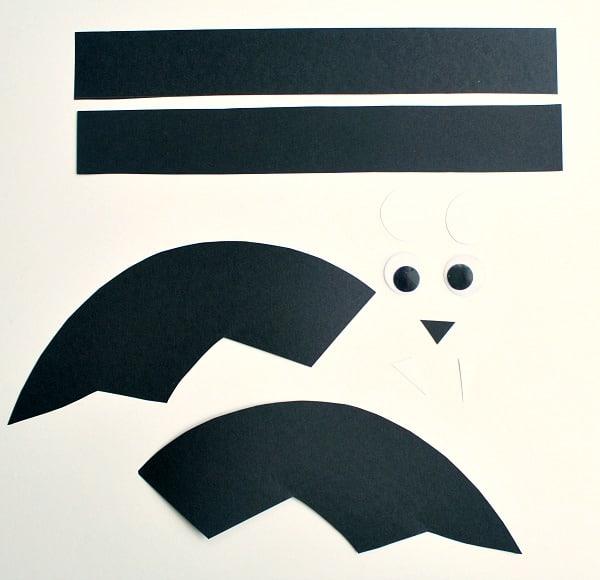 Materials for bat headband craft