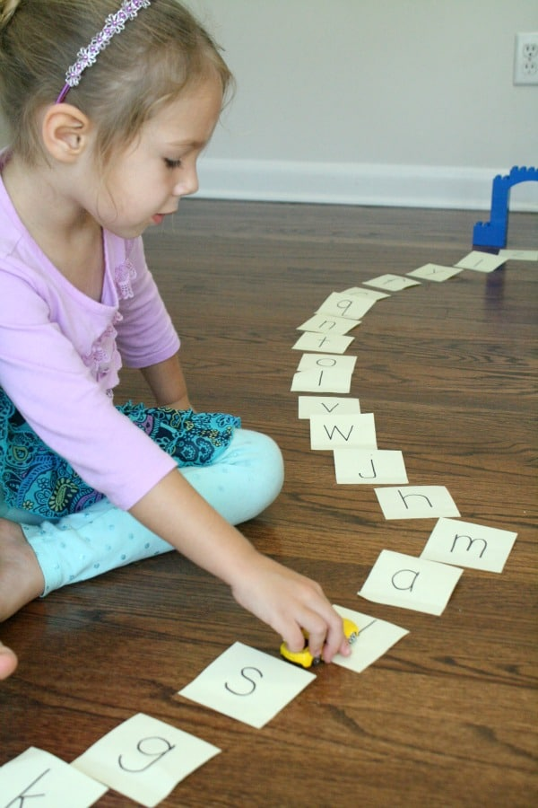 Mixed up alphabet letter practice