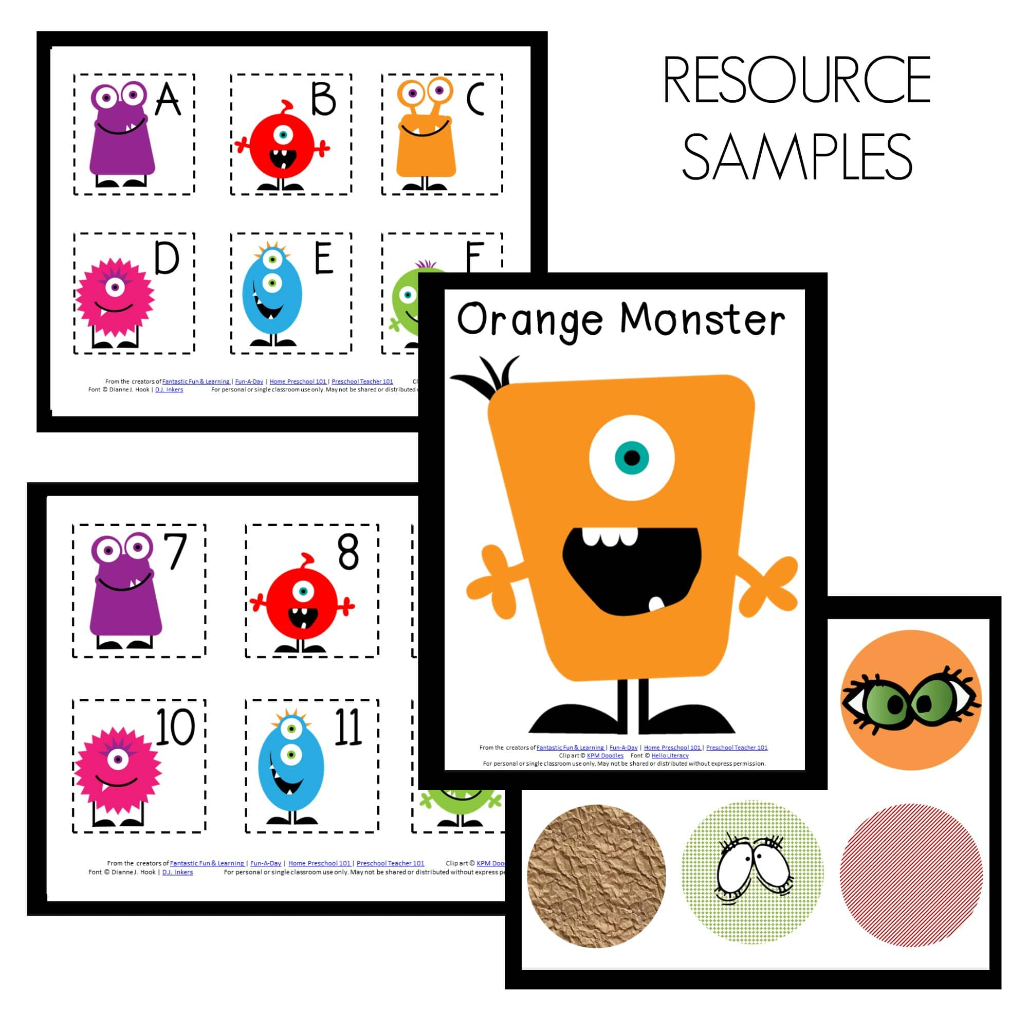 Monster Theme Sample Resources