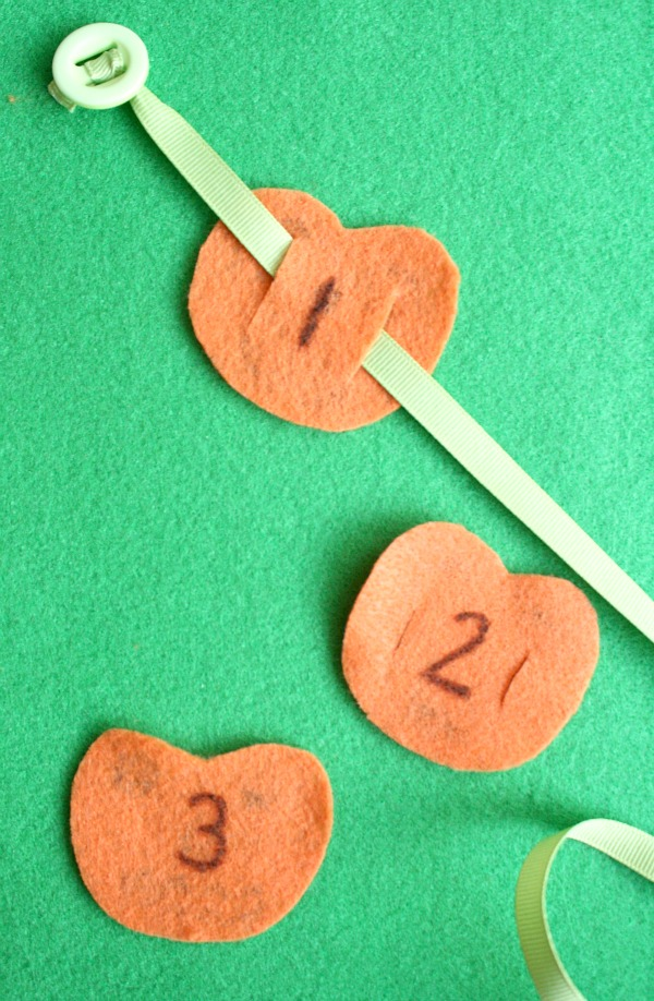 Pumpkin Math Counting and Fine Motor Activity
