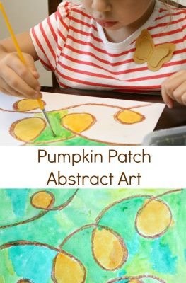 Pumpkin Patch Abstract Fall Art Activity