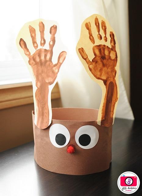 Handprint reindeer antlers