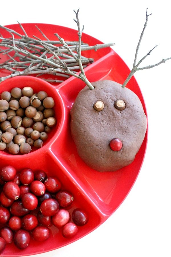 Chocolate Reindeer Play Dough Recipe and Invitation to Play