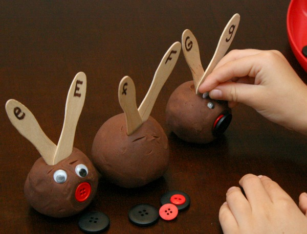 Christmas Learning Activity-Reindeer Antler Letter Matching
