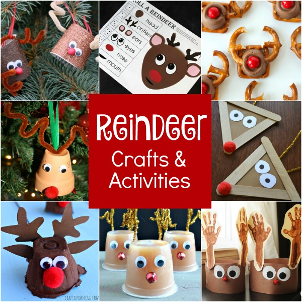 Creative Reindeer Crafts, Learning Activities, and Snacks for Kids