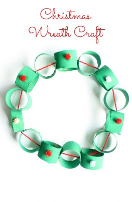 Easy Cardboard Tube Wreath Christmas Craft