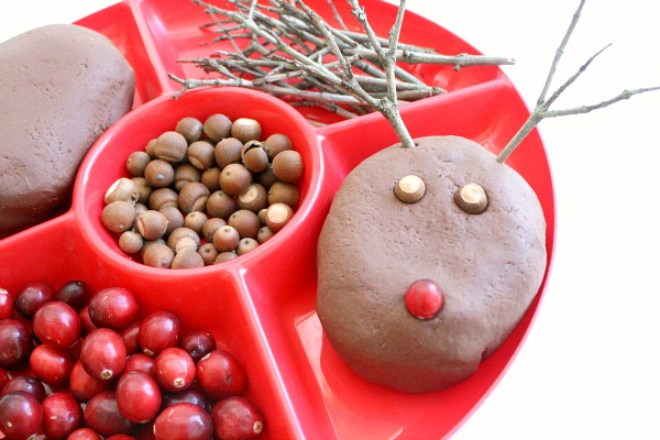 Materials for Play Dough Rudolph the Red Nosed Reindeer