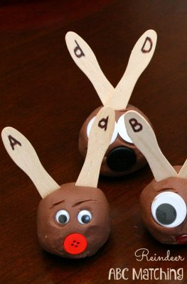 Reindeer ABC Matching Christmas Learning Activity