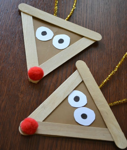 popsicle stick reindeer