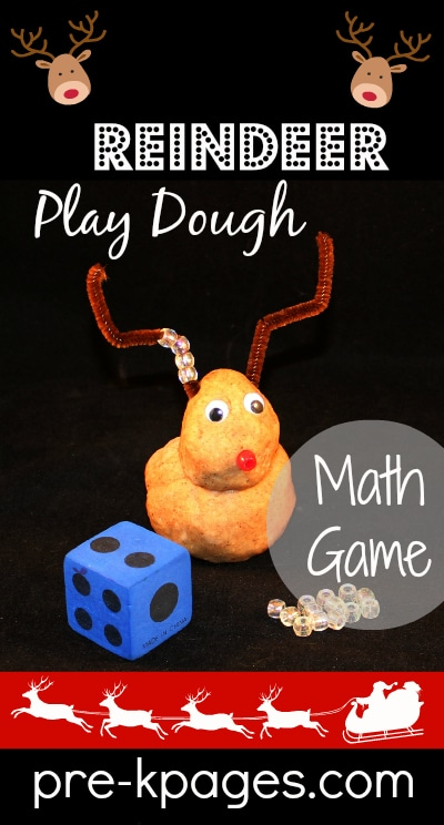 Reindeer Play Dough Counting
