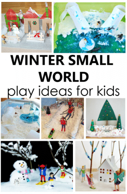 Winter Small Worlds Pretend Play Activities for Winter Sensory Play in Preschool and Kindergarten