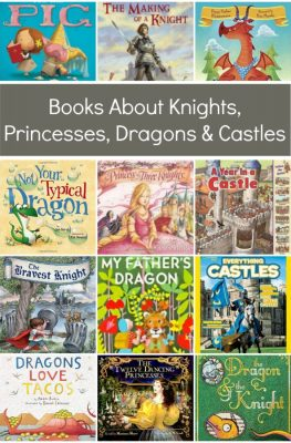 Clever, funny, and whimsical books about knights, princesses, dragons and castles. This list includes fiction and nonfiction books for preschool and elementary kids.