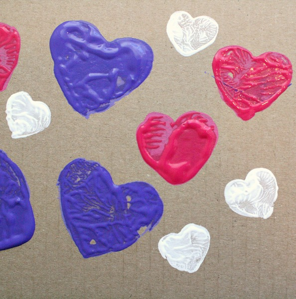 DIY Heart Stamp Valentine Art for Kids