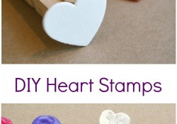 DIY Heart Stamp Art for Kids