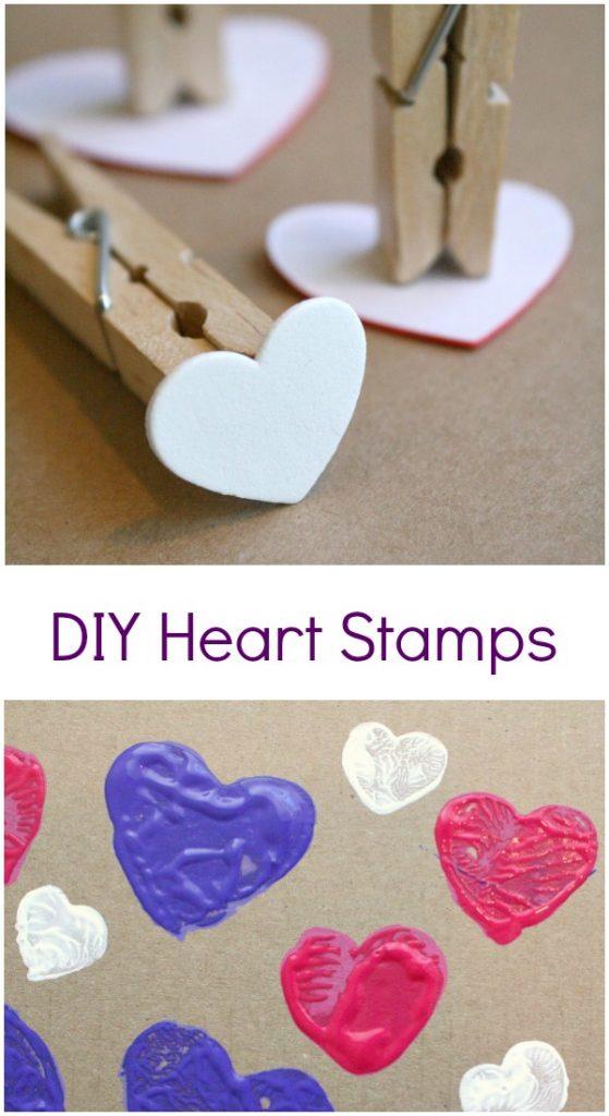 DIY Heart Stamp Art for Kids - Fantastic Fun & Learning