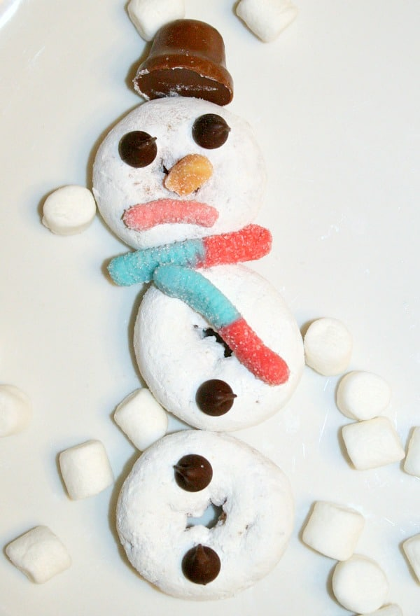 Easy Preschool Snowman Winter Treat Kids Can Make