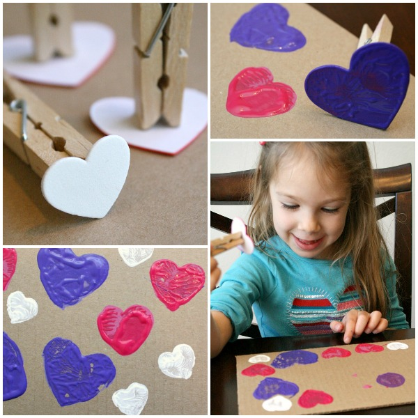 DIY Heart Stamp for Preschool Art