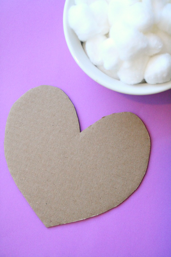 Fluffy Heart Art Materials