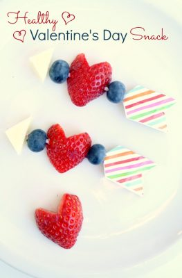 Healthy Valentine's Day Snack-Perfect for class parties and after school snacks