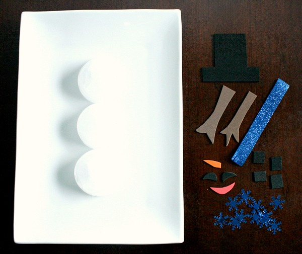 Ice Snowman Art Materials