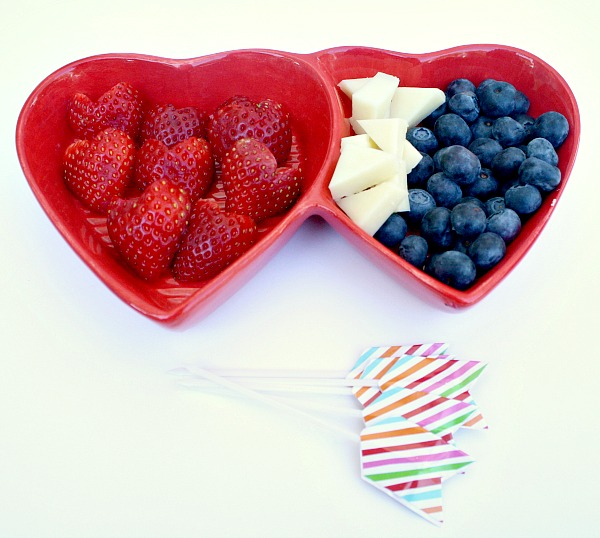 Ingredients for Easy Valentine's Day Snack