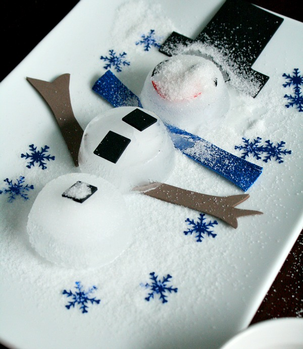 Melting Snowman Preschool Science Experiment