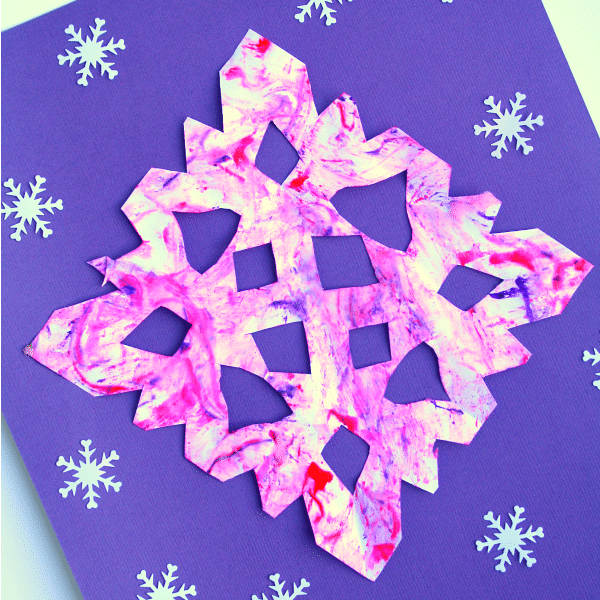 Preschool Winter Art Snowflake Craft