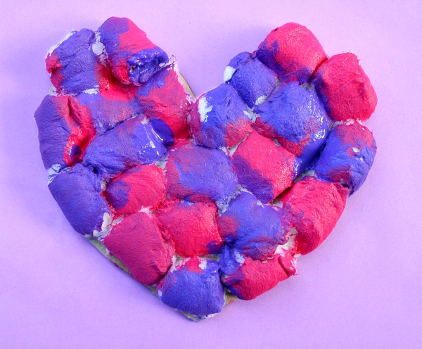 Puffy Heart Art and Preschool Craft