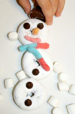 Kid-Made Snowman Treat