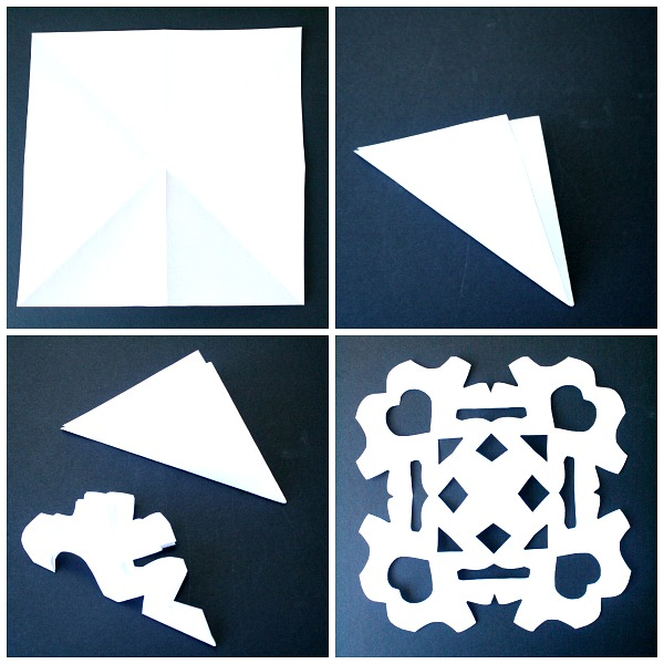 Step by Step Directions for Making a Paper Snowflake