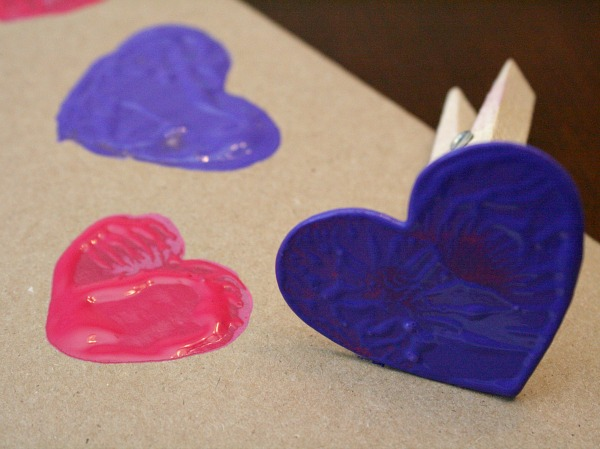 Valentine Art for Kids-Heart Stamps