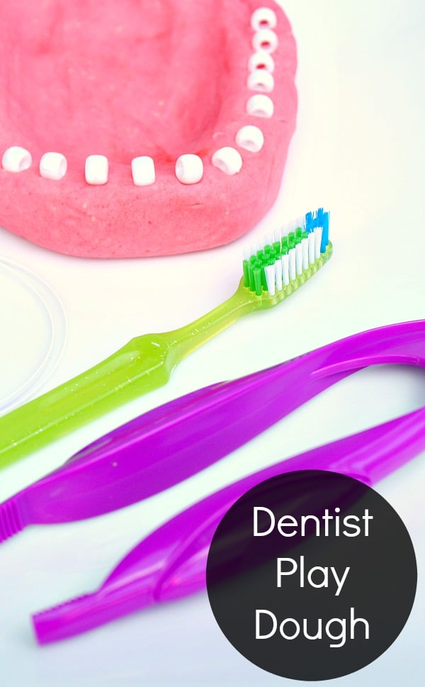 Dentist Play Dough-Preschool Pretend Play for Dental Health Month