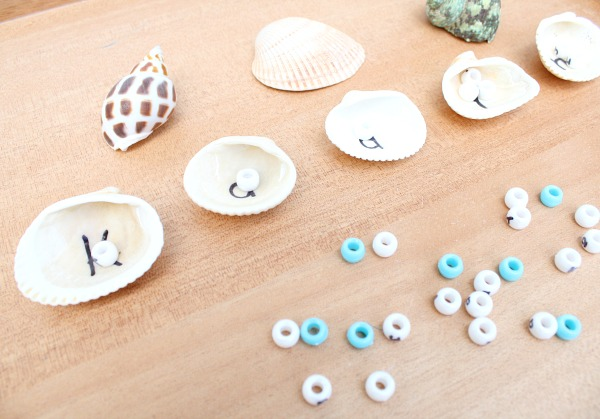 Learning Letters-Preschool Seashell Name Activity