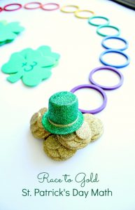 Race to Gold St. Patrick's Day Math Activity-Practice counting forward and backward as you race to gold in this game for preschool and kindergarten