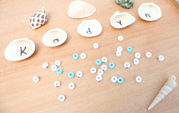 Seashell Name Activity for Preschoolers