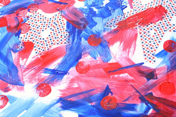 4th of July Process Art for Preschool