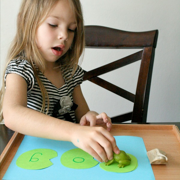 Blending Activity for Preschool-Lily Pad Frog Hop Spring Learning Activity