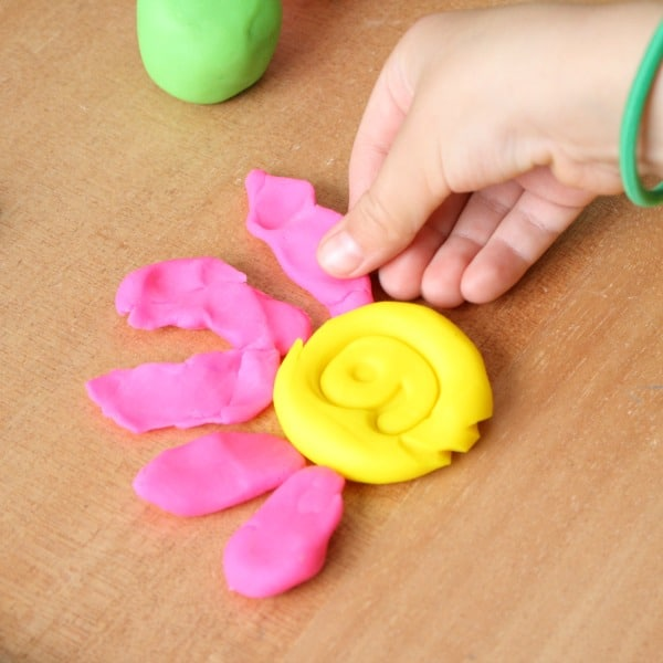 Counting with Play Dough Flowers