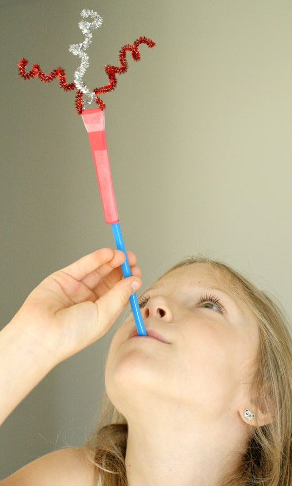 Fireworks craft for kids-- Patriotic Straw rockets