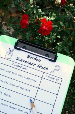 Garden Scavenger Hunt Free Printable